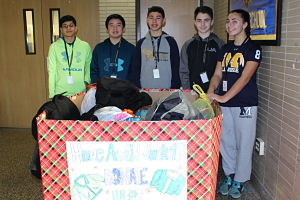 "Berner Middle School Eighth Grade Class ""Shares The Warmth"""