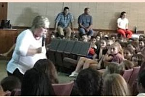 Officer Sharon Galvin Discusses Cyberbullying With Seventh Graders
