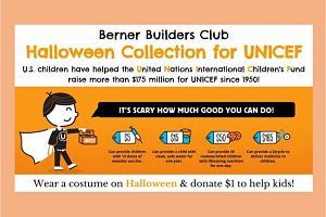 Berner Builders Club Collects For UNICEF