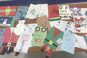 Berner's Builders Club Sends Holidays Cards To Soldiers