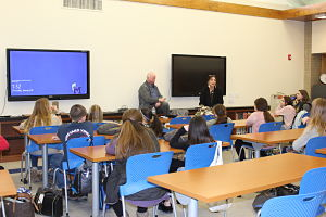 Local Resident Speaks To Health Classes At Berner