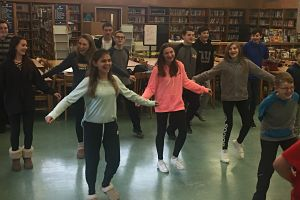 Berner Students Learn The Mexican Hat Dance