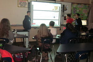 BMS Students In Mrs. Robertson's Class Take On A Teaching Role