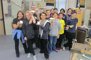 Students In The Technology Club At BMS Build Maglev Vehicles