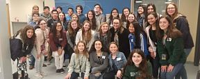 Students in the business education program at Massapequa High School's Ames Campus visited the Juni