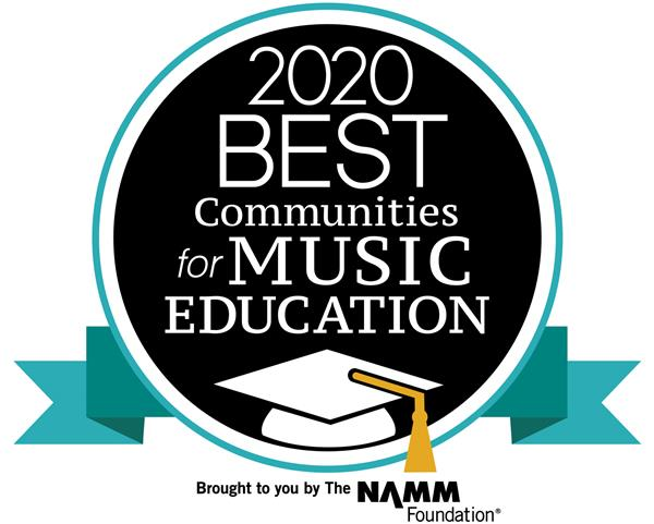 2019 Best Communities for Music Education Badge