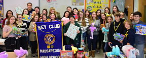 High School Students Keyed in to the Giving Spirit