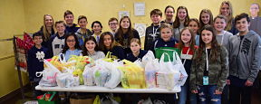 Berner Students See Impact of Holiday Food Drive
