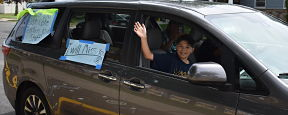 Fifth Graders Celebrate Milestone by Motorcade