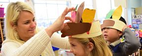 Fairfield First-Graders get Crafty for Thanksgiving